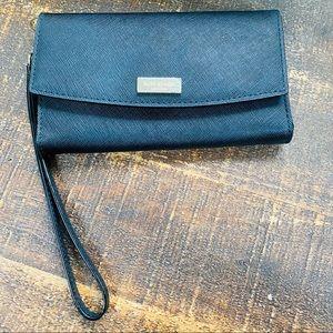 Kate Spade ♠️ Black Leather Wristlet Wallet